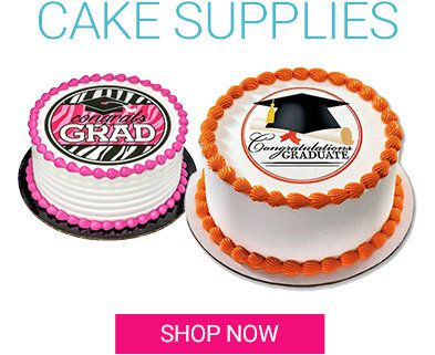 Graduation, Cake, Supplies