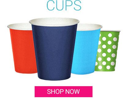 Solid color cups