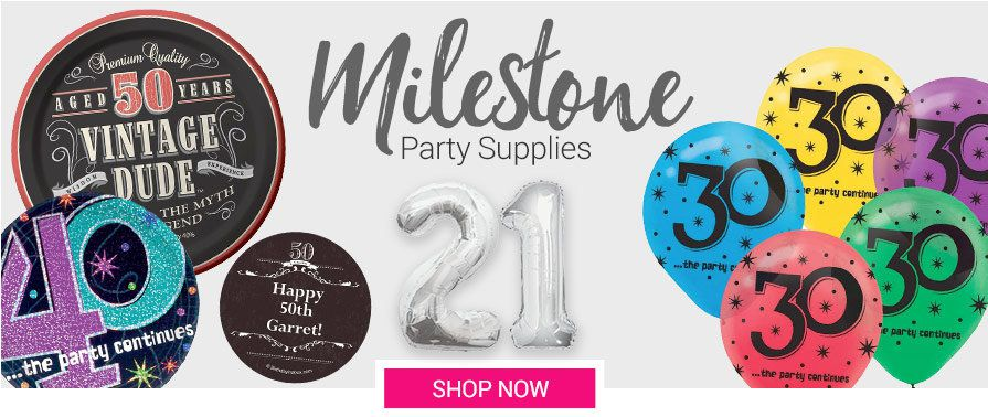 Adult Milestone Party Supplies