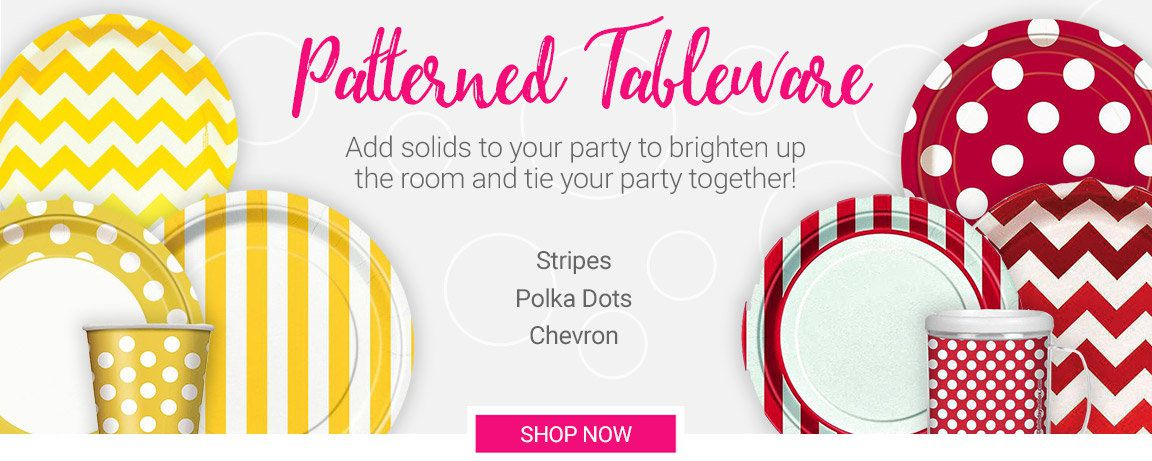 Patterned Tableware