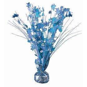 "15"" Baby Shower Balloon Weight Centerpiece - Light Blue Holographic"
