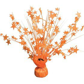 "15"" Starburst Balloon Weight Centerpiece - Bright Neon Orange"
