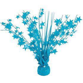 "15"" Starburst Balloon Weight Centerpiece - Bright Neon Turquoise"