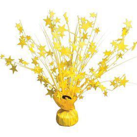 "15"" Starburst Balloon Weight Centerpiece - Bright Neon Yellow"