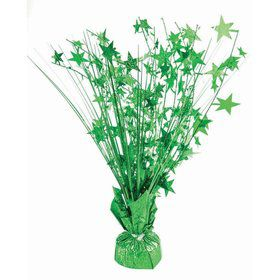 "15"" Starburst Balloon Weight Centerpiece - Green Holographic"