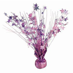 "15"" Starburst Balloon Weight Centerpiece - Light Pink Holographic"