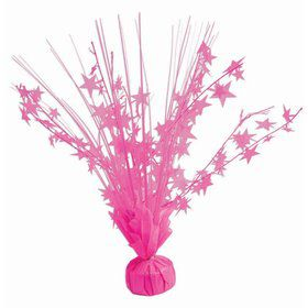"15"" Starburst Balloon Weight Centerpiece - Neon Candy Pink"