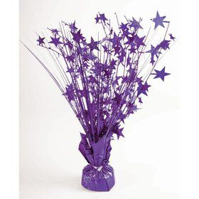 "15"" Starburst Balloon Weight Centerpiece - Purple Holographic"