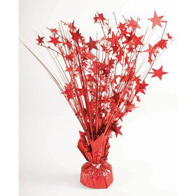 "15"" Starburst Balloon Weight Centerpiece - Red Holographic"