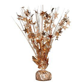 "15"" Starburst Balloon Weight Centerpiece - Rose Gold"