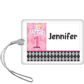 1st Birthday Angel Personalized Bag Tag (each)