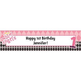 1st Birthday Angel Personalized Banner (each)