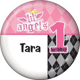 1st Birthday Angel Personalized Button (each)