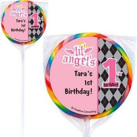 1st Birthday Angel Personalized Lollipops (pack of 12)