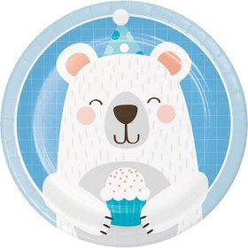 "Birthday Bear 7"" Dessert Plate (8)"