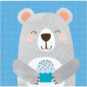 Birthday Bear Beverage Napkin (16)