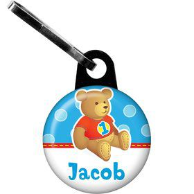1st Birthday Bear Boy Personalized Zipper Pull (each)