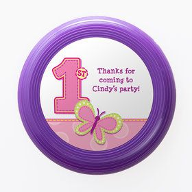 1st Birthday Bear Girl Personalized Mini Discs (Set of 12)
