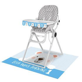1st Birthday Bear High Chair Kit (1)