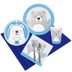1st Birthday Bear Party Pack For 8
