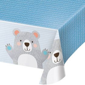 Birthday Bear Plastic Tablecover (1)