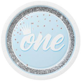"1st Birthday Blue 9"" Plate (8)"