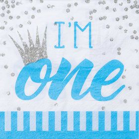 1st Birthday Blue Beverage Napkin (16)