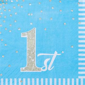 1st Birthday Blue Luncheon Napkin (16)