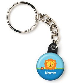 "1st Birthday Boy Animal Personalized 1"" Mini Key Chain (Each)"