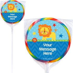 1st Birthday Boy Animal Personalized Lollipops (12 Pack)