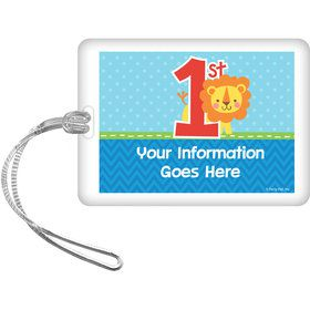 1st Birthday Boy Animal Personalized Luggage Tag (Each)