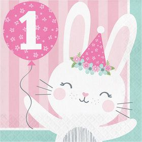 1st Birthday Bunny Luncheon Napkin (16)