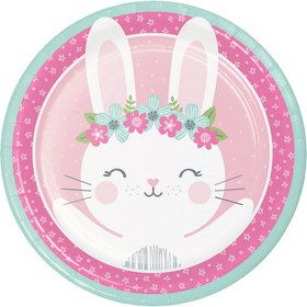 "Birthday Bunny 9"" Dinner Plate (8)"