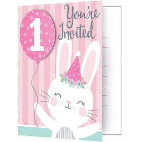 1st Birthday Bunny Folded Invitation (8)