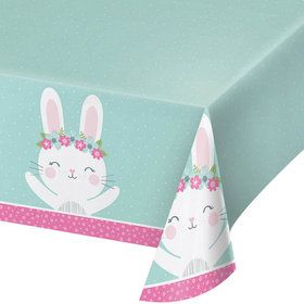 Birthday Bunny Plastic Tablecover (1)