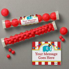 1st Birthday Circus Personalized Candy Tubes (12 Count)