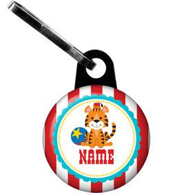 1st Birthday Circus Personalized Zipper Pull (Each)
