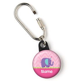 "1st Birthday Girl Animal Personalized 1"" Carabiner (Each)"