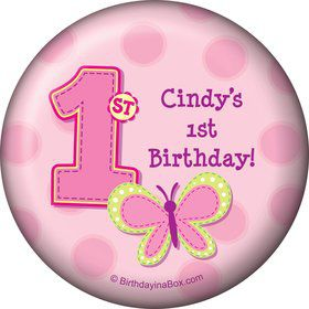 1st Birthday Girl Personalized Magnet (each)