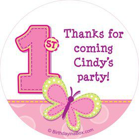 1st Birthday Girl Personalized Sticker