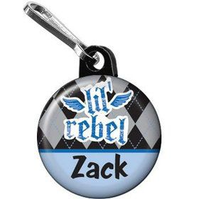 1st Birthday Rebel Personalized Mini Zipper Pull (each)