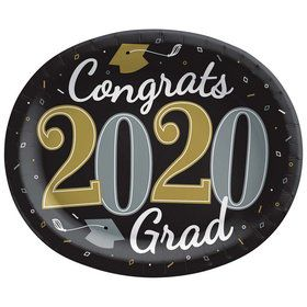 2020 Well Done Grad Oval Lunch Plates (18)