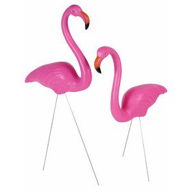 "25"" Flamingo Lawn Decoration (Set of 2)"