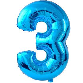 3 Blue Foil Balloon
