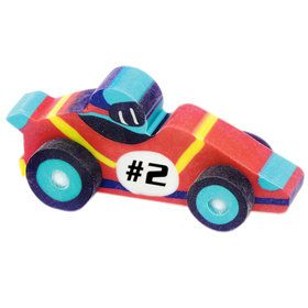 3-D Race Car Eraser Asst. (60)