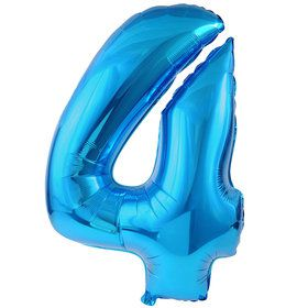 4 Blue Foil Balloon