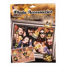 50th Birthday Photo Booth Accessories