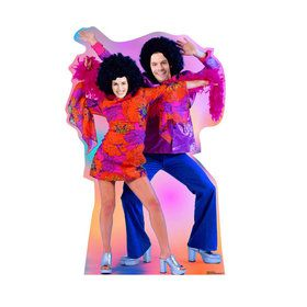 70'S Dance Couple Standin Cardboard Standup