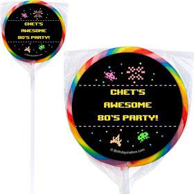 80's Personalized Lollipops (12 Pack)