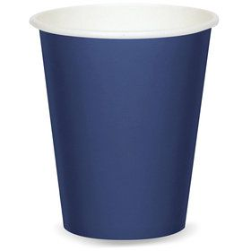 Navy 9oz Paper Cups (8)